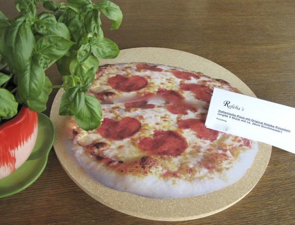 Pizzastein Brotbackstein rund 35cm für Backofen und Kugelgrill mit Pizzarezept