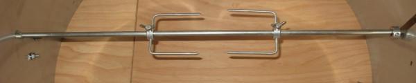 Grillspieß Edelstahl d 8mm Länge 80cm mit 4-Kant-Aufnahme 6x6mm oder 8x8mm