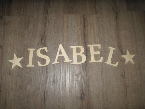 Holzbuchstaben / Holzzahlen freie Wahl, Höhe 12,5cm Stärke 18mm