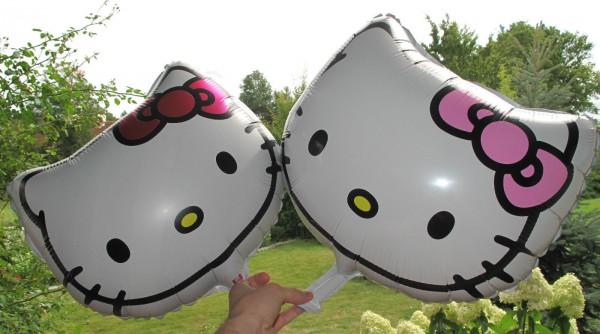 """Kitty Folienballon """"Kopf mit Schleife"""""""
